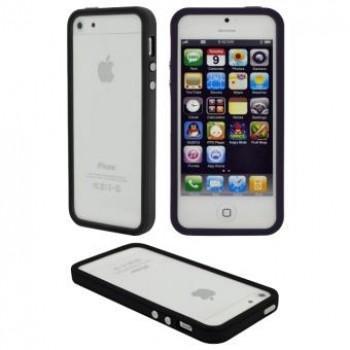 Husa Bumper din plastic 4Ok pentru iPhone 5 Black