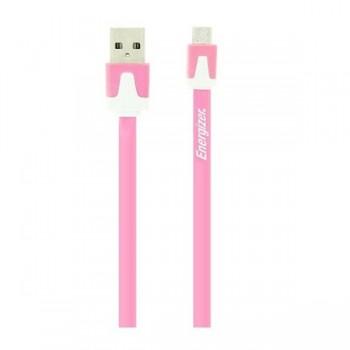 Cablu de Date Energizer Cablu MicroUSB Plat, Roz