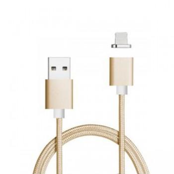 Cablu de date magnetic IDEAL pentru iPhone Gold