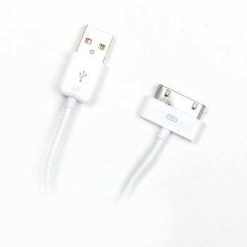 Cablu de Date Mobiama pentru iPhone 4/4s, Alb
