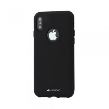 Husa de protectie Meleovo Liquid Silicone Jacket, pentru Apple iPhone X, Negru - 1