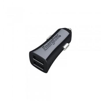 Incarcator Auto cu cablu microUSB Energizer, 3,4A, 2USB, Negru