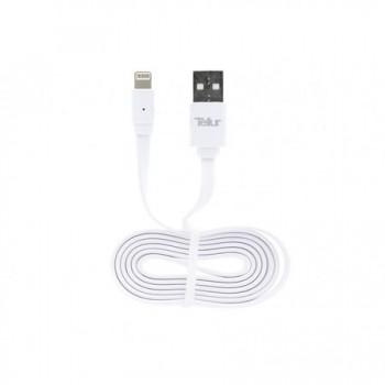 Cablu de date Tellur iPhone 5/6, Alb