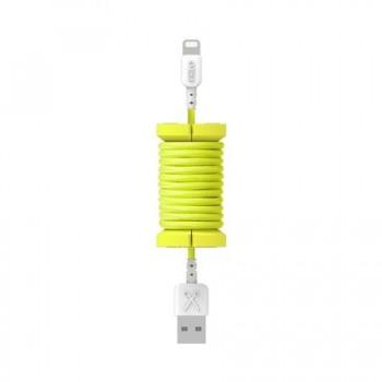 PCablu de date lightning, MFI, pentru iPhone, Philo SPOOL CABLE, 1m, Galben