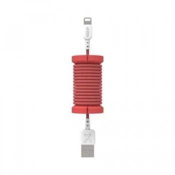 Cablu de date lightning, MFI, pentru iPhone, Philo SPOOL CABLE, 1m, Rosu