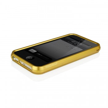 Husa Bumper din aluminiu Macally colectia RimAlum pentru iPhone 5 Gold