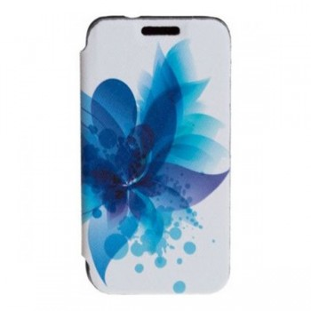 Husa Flip Tellur pentru Samsung Galaxy J3 2016 blue flower