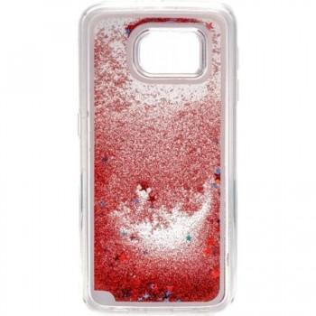 Carcasa spate Galaxy S6 Glitter pink dark