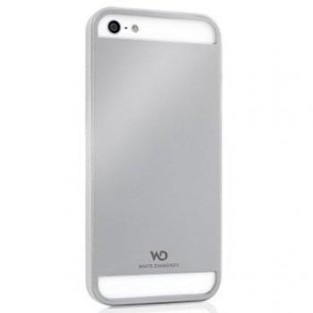 Husa din metal White Diamonds colectia Pure pentru Apple iPhone 5 silver