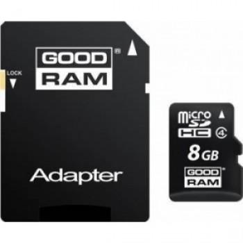 Card de memorie Goodram Micro SD 8GB, Clasa 4 + Adaptor