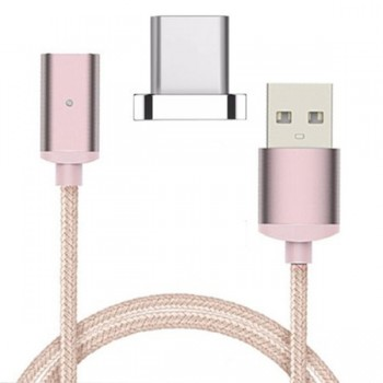 Cablu de date magnetic IDEAL MicroUSB Rose Gold