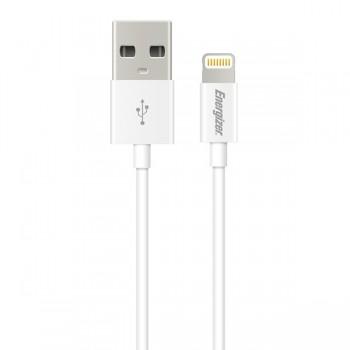Cablu AVE Lighting Energizer pentru iPhone alb