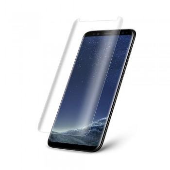 Folie ecran sticla securizata Nuglas Curved 3D pentru Samsung Galaxy S8 Plus, Transparenta