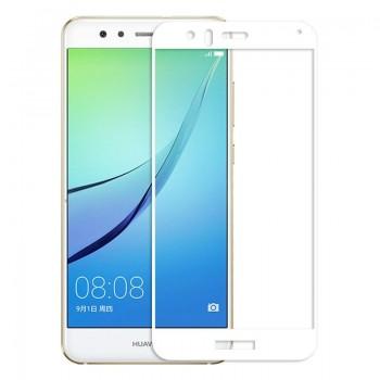 Folie protectie sticala 3D White Huawei P10