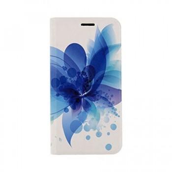 Husa tip carte Tellur Samsung Galaxy A3 2017, Blue Flower