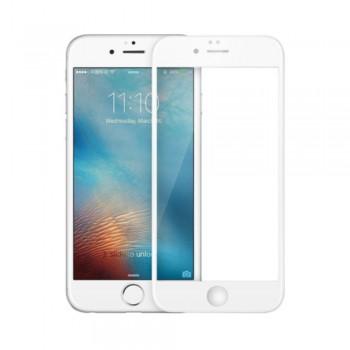 Folie ecran sticla securizata Nuglas Full Cover pentru iPhone 6/6S Plus, White