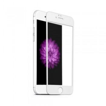 Folie ecran sticla securizata Gold Full Cover pentru iPhone 6 Plus White - 1