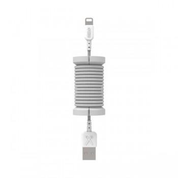 Cablu de date lightning, MFI, pentru iPhone, Philo SPOOL CABLE, 1m, Silver