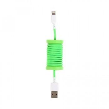 Cablu de date lightning, MFI, pentru iPhone, Philo SPOOL CABLE, 1m, Verde