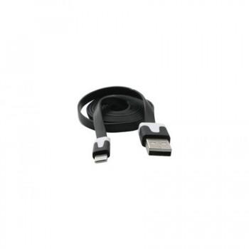 Cablu de date plat iPhone 5, Negru