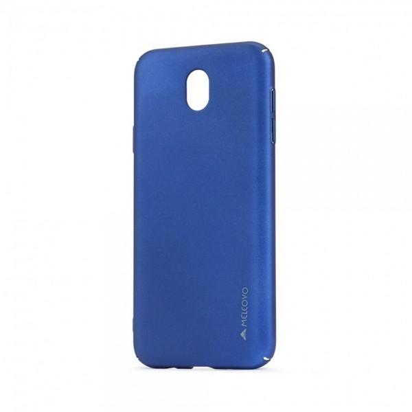 Carcasa Meleovo Metallic Slim pentru Samsung Galaxy J7 2017, Albastru
