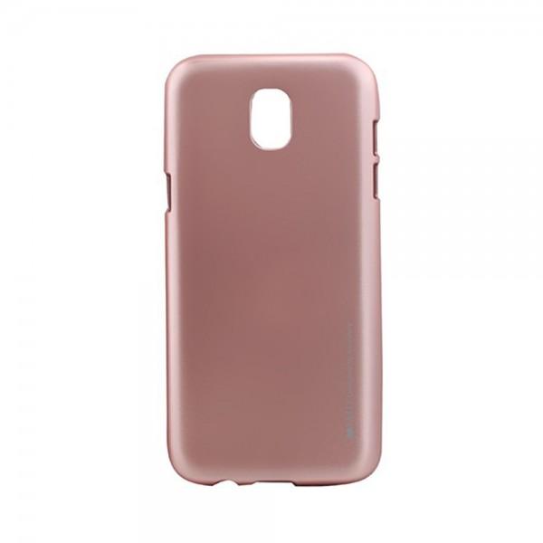 Carcasa protectie spate My-Jelly Metal Samsung Galaxy J7 2017, RoseGold