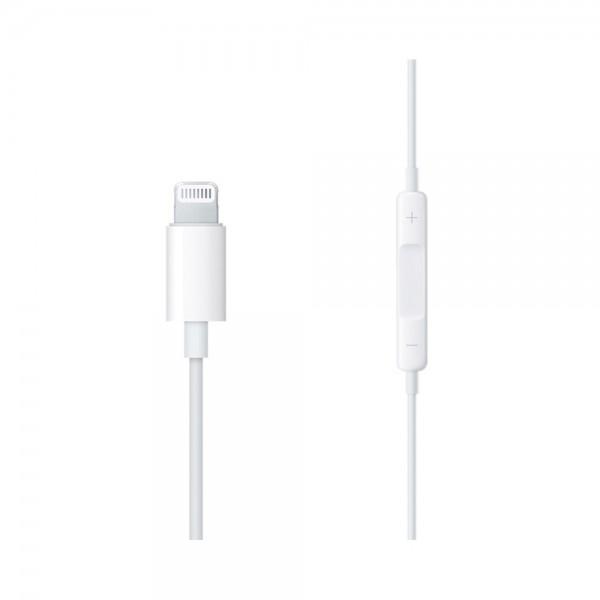 Casti cu microfon Apple EarPods, Lightning, White - 3