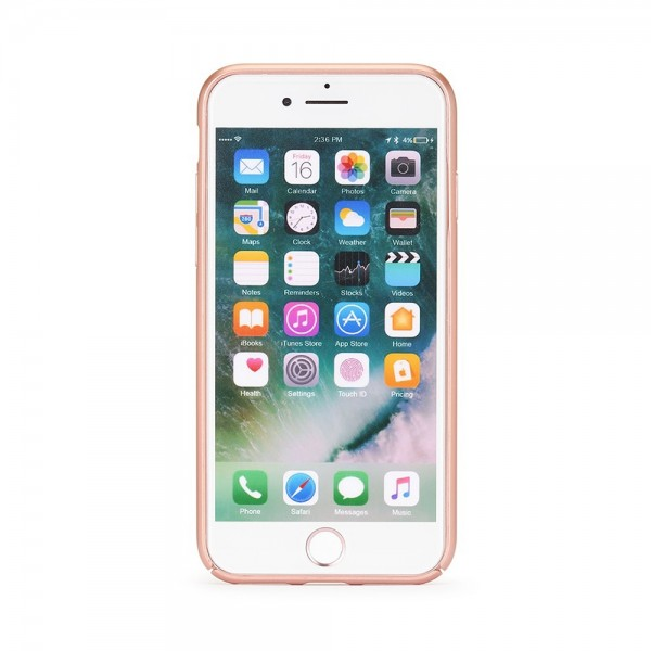 Husa de protectie Meleovo 360 Shield, pentru Apple iPhone 8, Rose Gold - 1