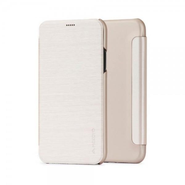 Husa de protectie Meleovo Smart Flip, pentru Apple iPhone X, Auriu - 2