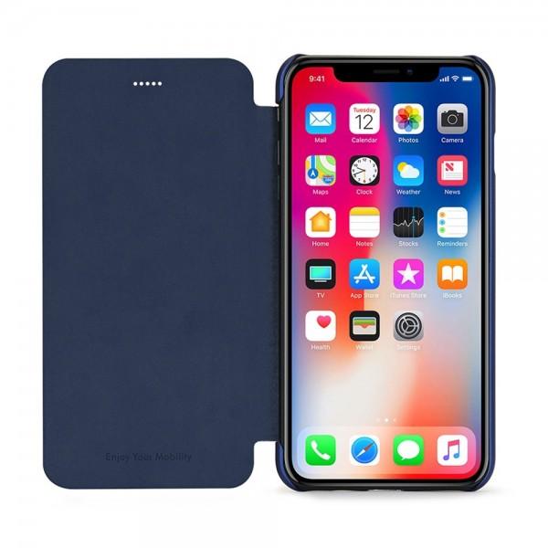 Husa de protectie Meleovo Smart Flip, pentru Apple iPhone X, Blue - 2
