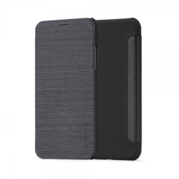 Husa de protectie Meleovo Smart Flip, pentru Apple iPhone X, Gri - 2