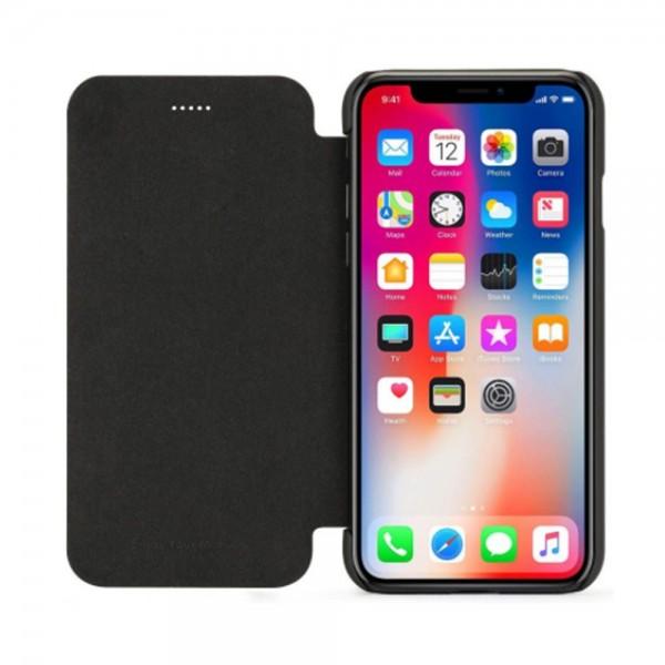 Husa de protectie Meleovo Smart Flip, pentru Apple iPhone X, Gri - 3