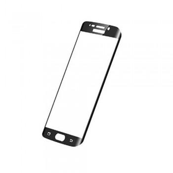 GOLD Full Cover Tempered Glass Samsung S7 Edge Black