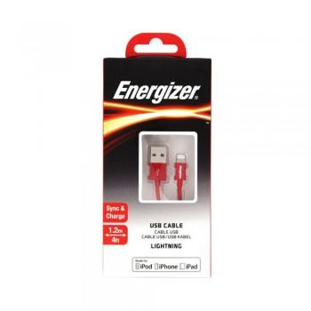 Cablu de Date Lightning Energizer, Rosu, 1,2m