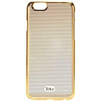 Husa de protectie Tellur Cover Hardcase Horizontal Stripes pentru iPhone 6/6s, Gold