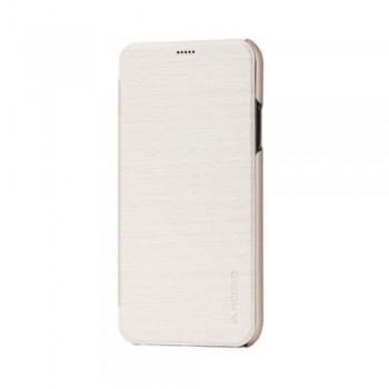 Husa de protectie Meleovo Smart Flip, pentru Apple iPhone X, Auriu - 1