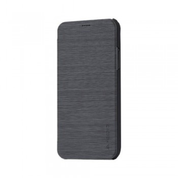 Husa de protectie Meleovo Smart Flip, pentru Apple iPhone X, Gri - 1