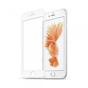Folie ecran sticla securizata Nuglas Full Cover pentru iPhone 6/6S, White