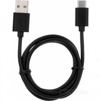 Cablu de date Tellur microUSB type C, Negru