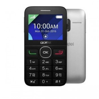 "Alcatel 2008G SS Black&Silver 2G, 2.4"", SC, 8MB, 16MB, 2MP, 1400mAh"