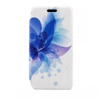 Husa Flip Folio Tellur Huawei P8 Lite blue flower