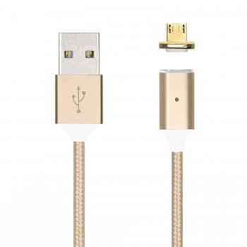 Cablu de date magnetic IDEAL MicroUSB Gold