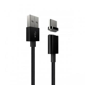 Cablu de date magnetic IDEAL USB Type-C Negru