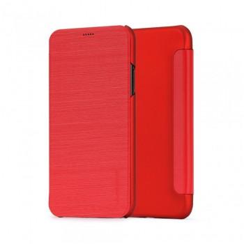 Husa de protectie Meleovo Smart Flip, pentru Apple iPhone X, Rosu - 1