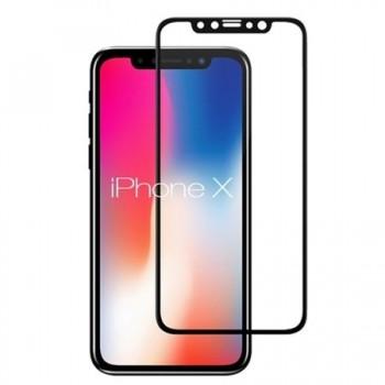 Folie ecran sticla securizata Gold Tempered Glass pentru iPhone X