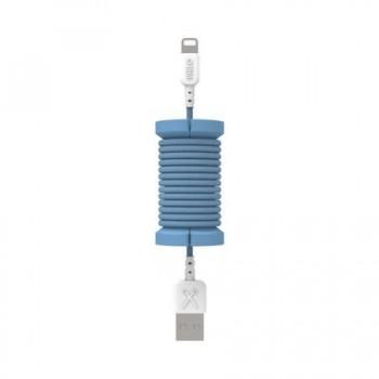 Cablu de date lightning, MFI, pentru iPhone, Philo SPOOL CABLE, 1m, Albastru