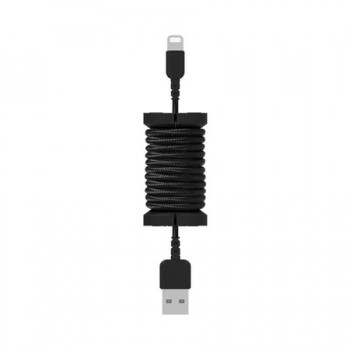 Cablu de date lightning, MFI, pentru iPhone, Philo SPOOL CABLE, 1m, Negru