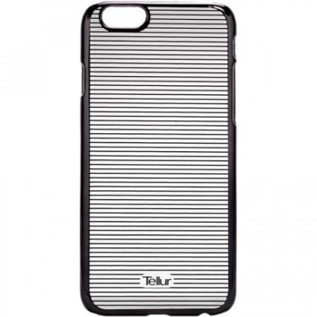 Husa de protectie Tellur Cover Hardcase Horizontal Stripes pentru iPhone 6/6s, Black